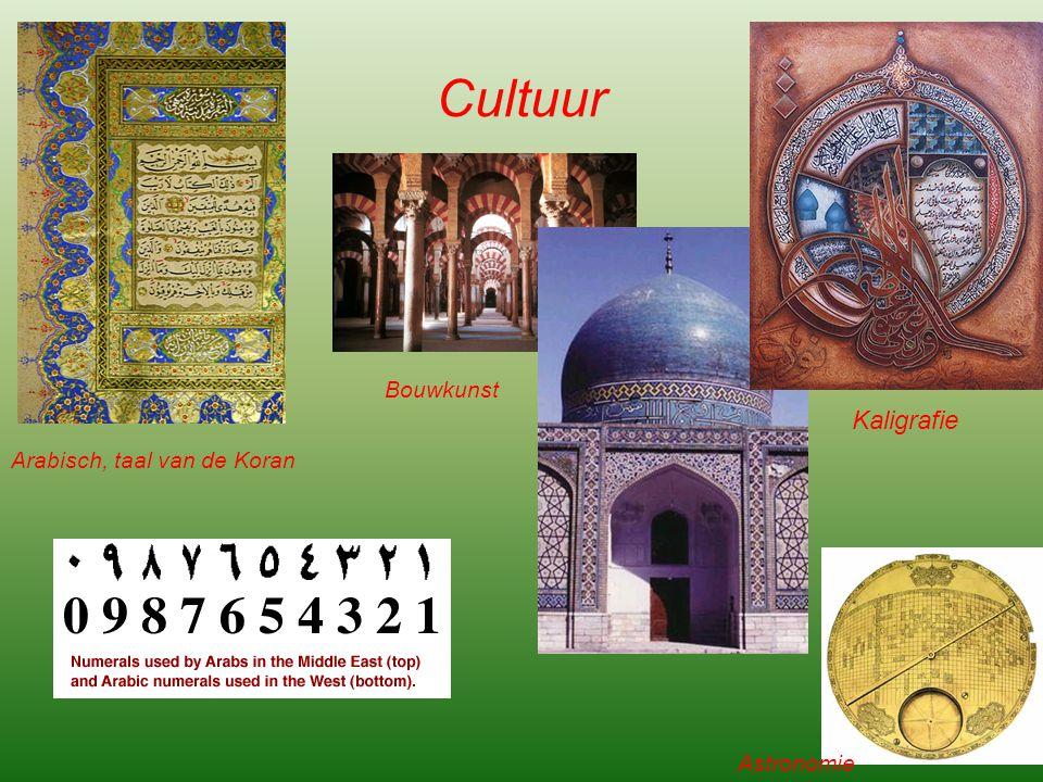 Cultuur Bouwkunst Kaligrafie Arabisch, taal van de Koran Astronomie