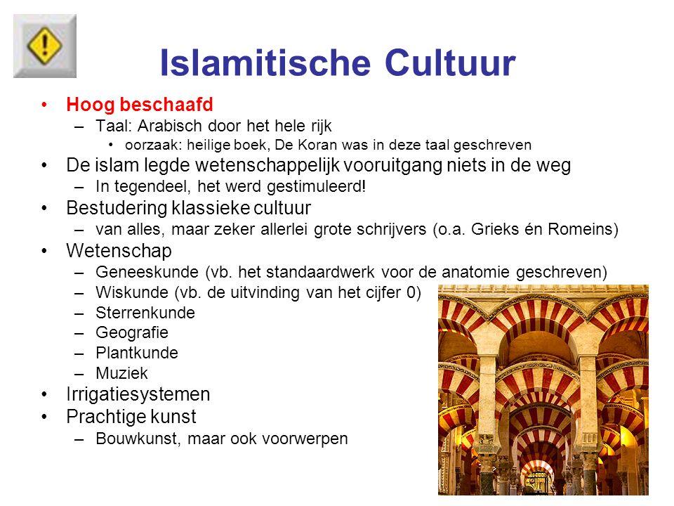Islamitische Cultuur Hoog beschaafd