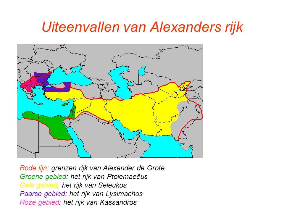 Uiteenvallen van Alexanders rijk