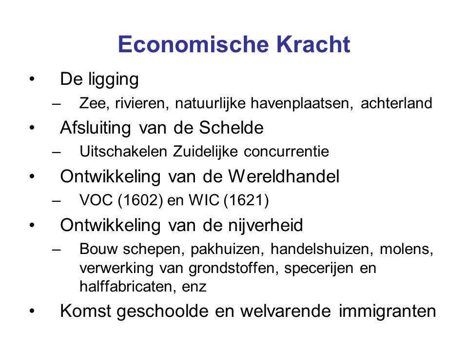 Economische Kracht De ligging Afsluiting van de Schelde