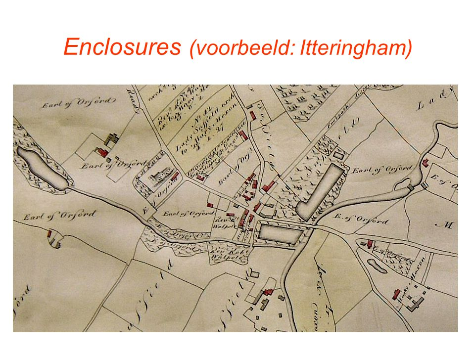 Enclosures (voorbeeld: Itteringham)