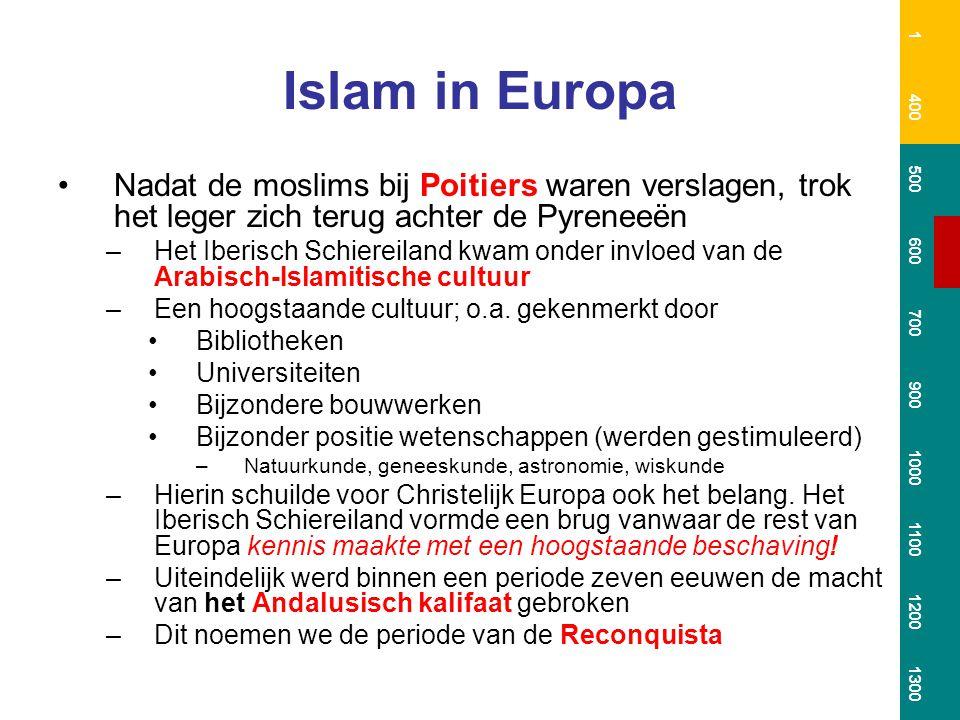 1 400. 500. 600. 700. 900. 1000. 1100. 1200. 1300. Islam in Europa.