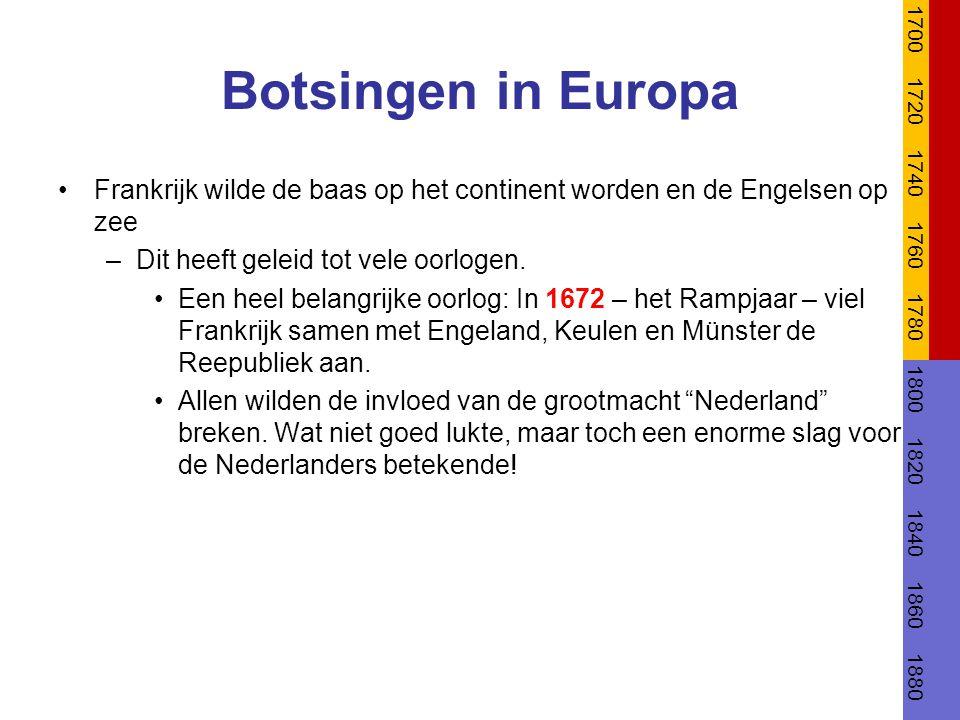 1700 1720. 1740. 1760. 1780. 1800. 1820. 1840. 1860. 1880. Botsingen in Europa.