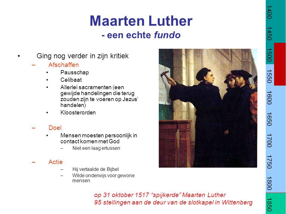 Maarten Luther - een echte fundo
