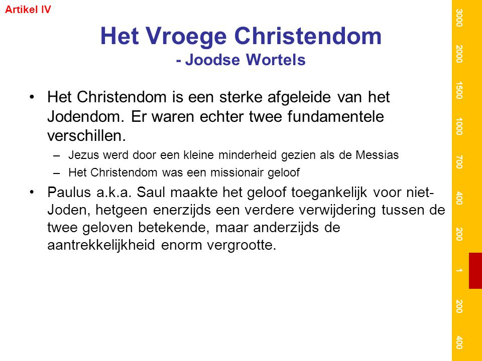 Het Vroege Christendom - Joodse Wortels
