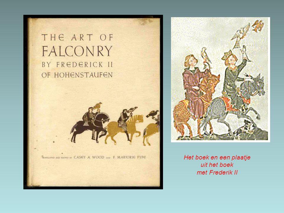 Het boek en een plaatje uit het boek met Frederik II