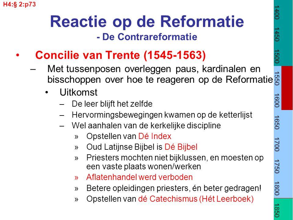 Reactie op de Reformatie - De Contrareformatie