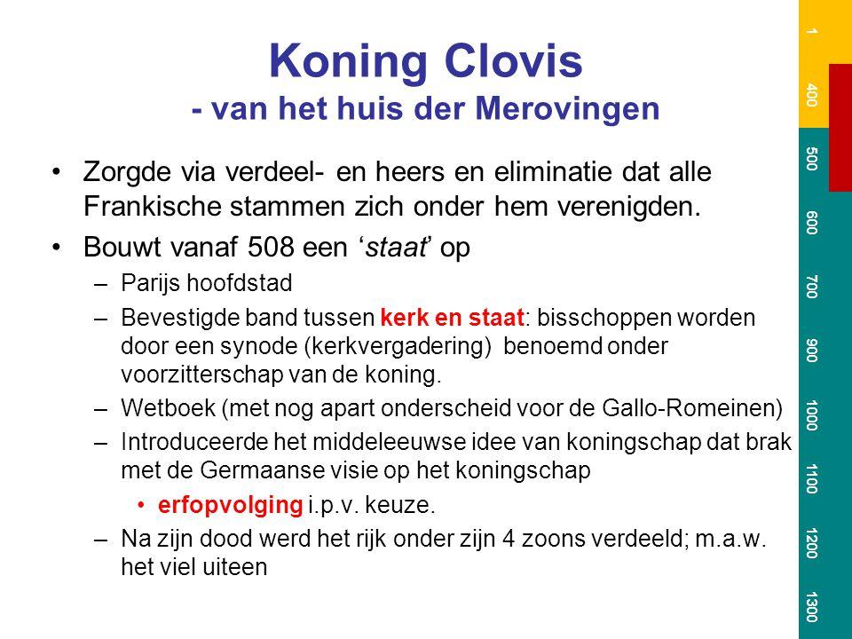 Koning Clovis - van het huis der Merovingen