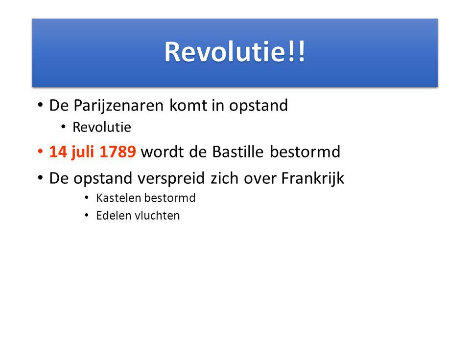 Revolutie!! De Parijzenaren komt in opstand