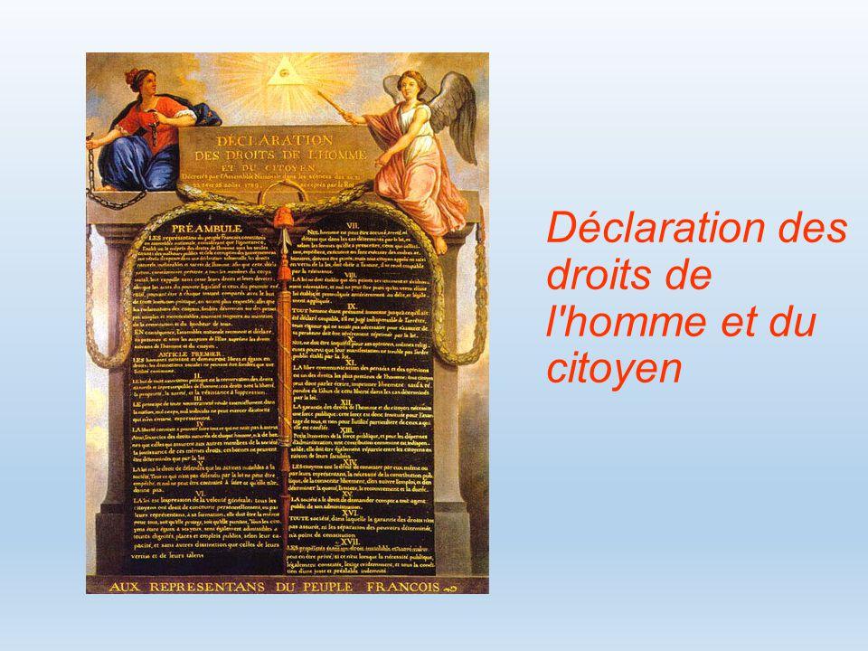 Déclaration des droits de l homme et du citoyen