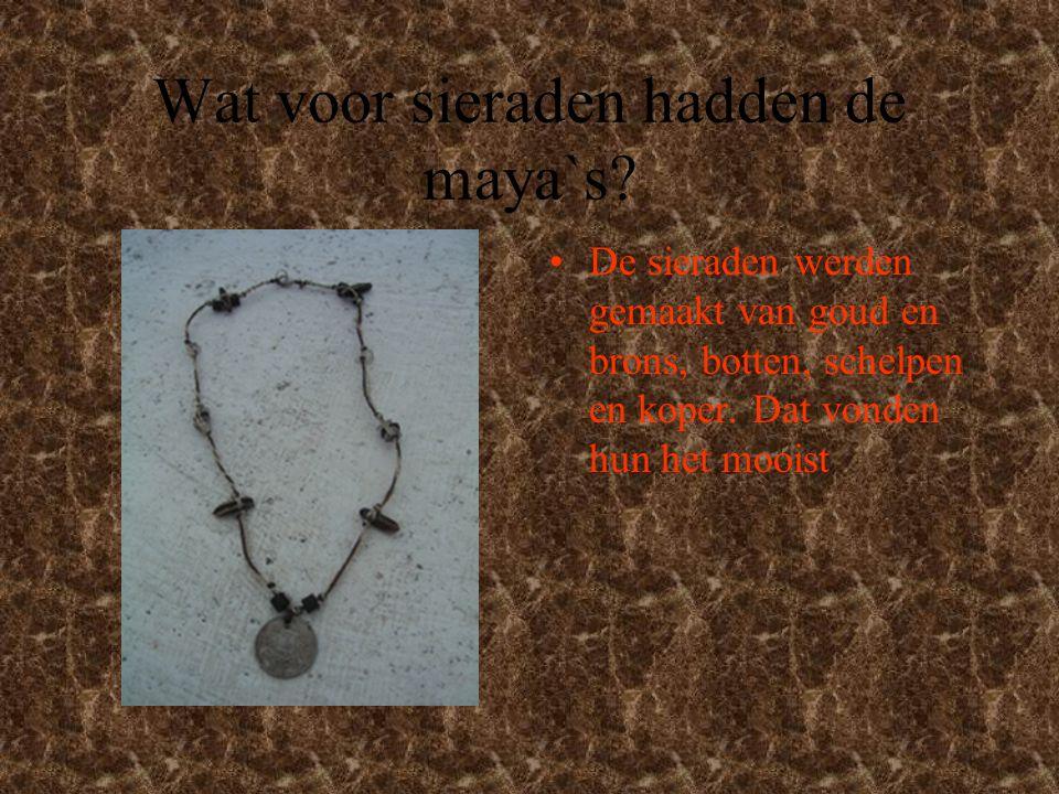 Wat voor sieraden hadden de maya`s