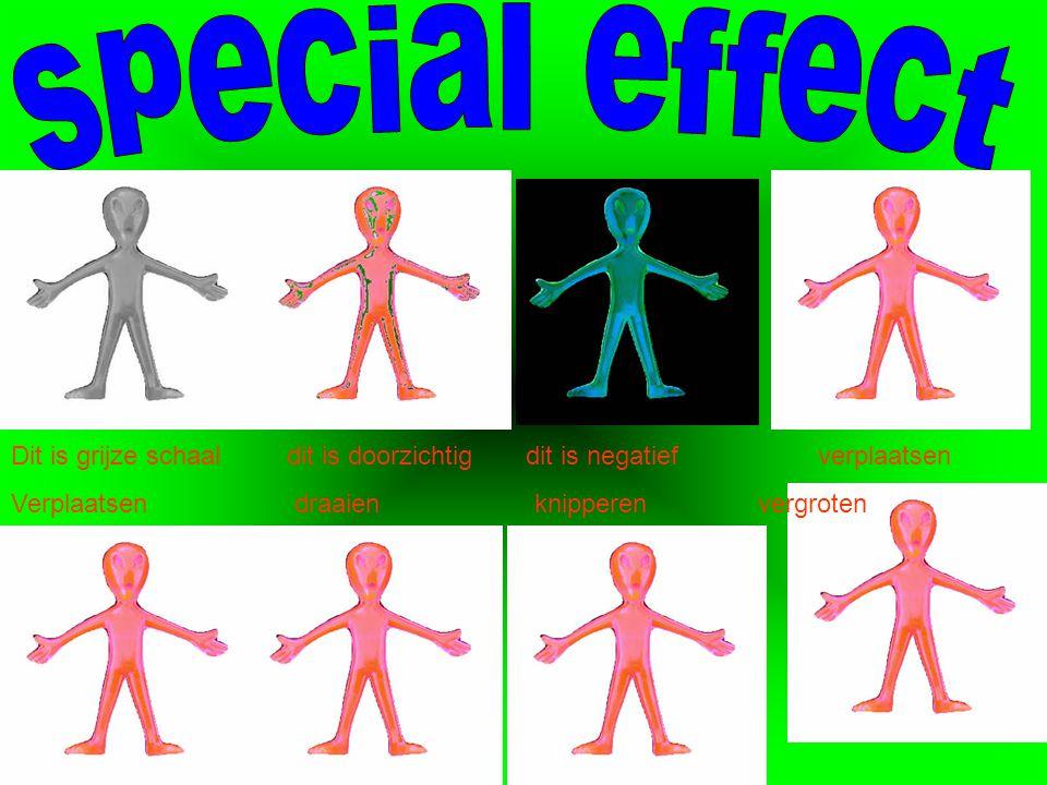 special effect Dit is grijze schaal dit is doorzichtig dit is negatief verplaatsen.