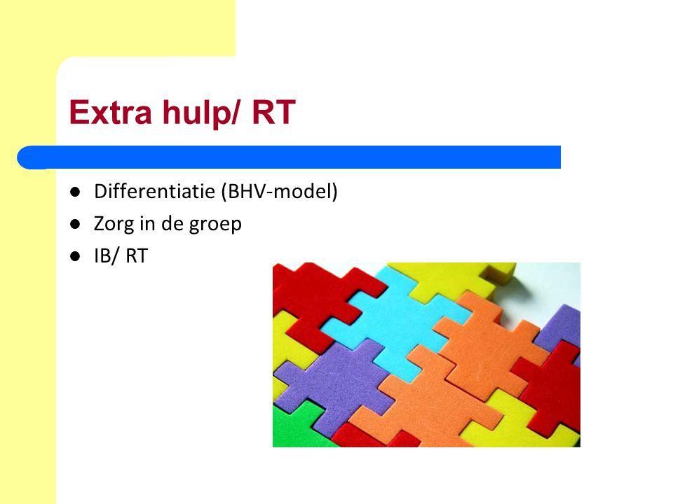 Extra hulp/ RT Differentiatie (BHV-model) Zorg in de groep IB/ RT
