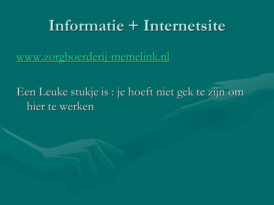 Informatie + Internetsite
