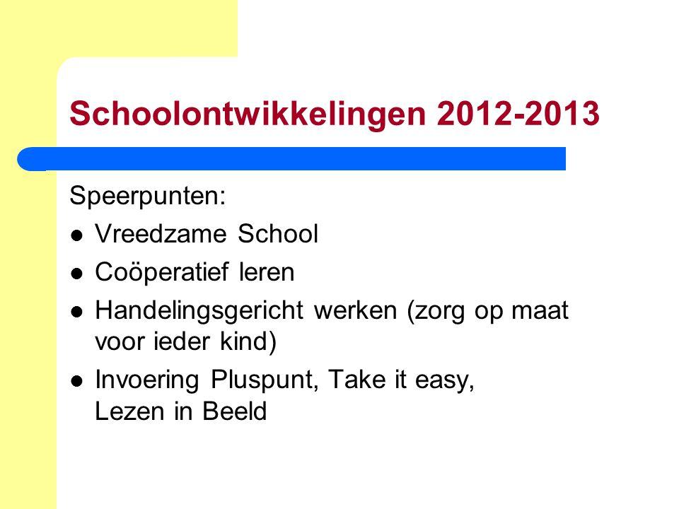 Schoolontwikkelingen 2012-2013