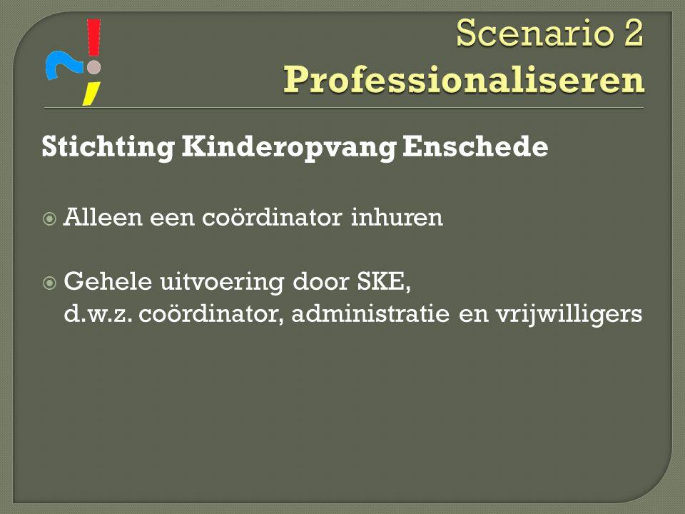 Scenario 2 Professionaliseren