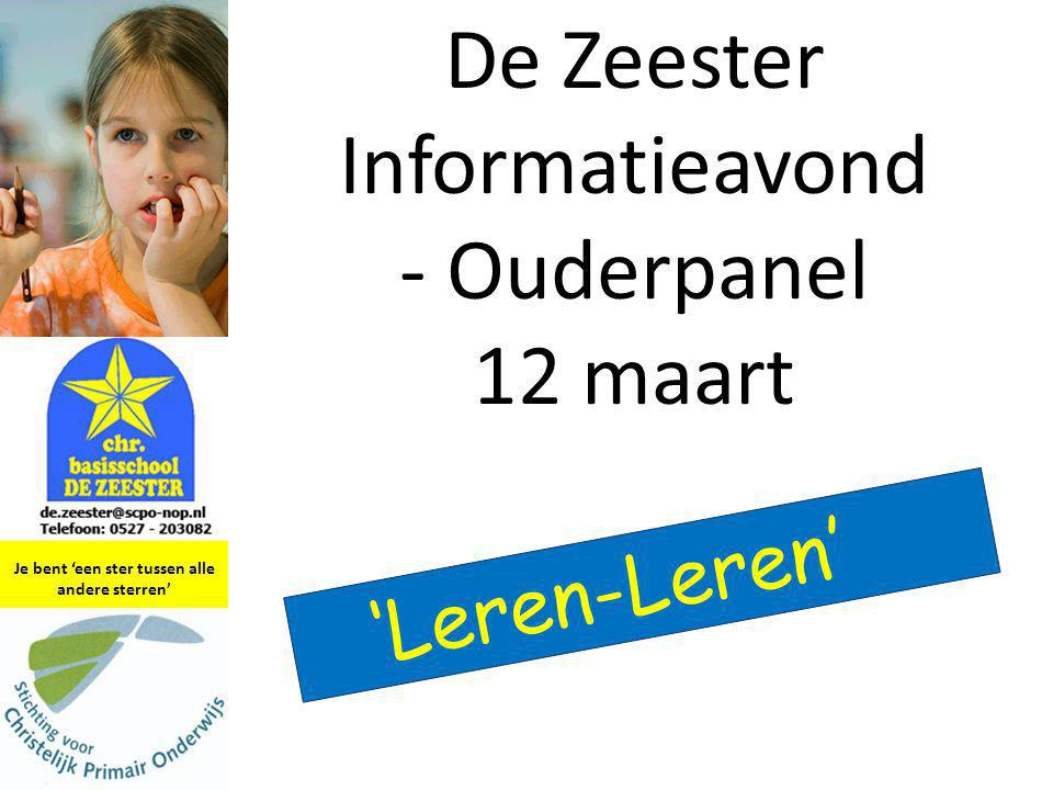 De Zeester Informatieavond - Ouderpanel 12 maart