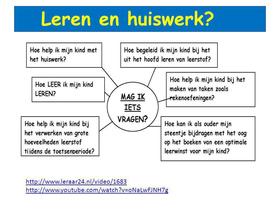Leren en huiswerk http://www.leraar24.nl/video/1683