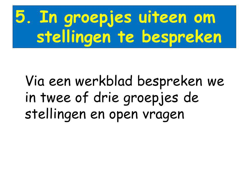 stellingen te bespreken