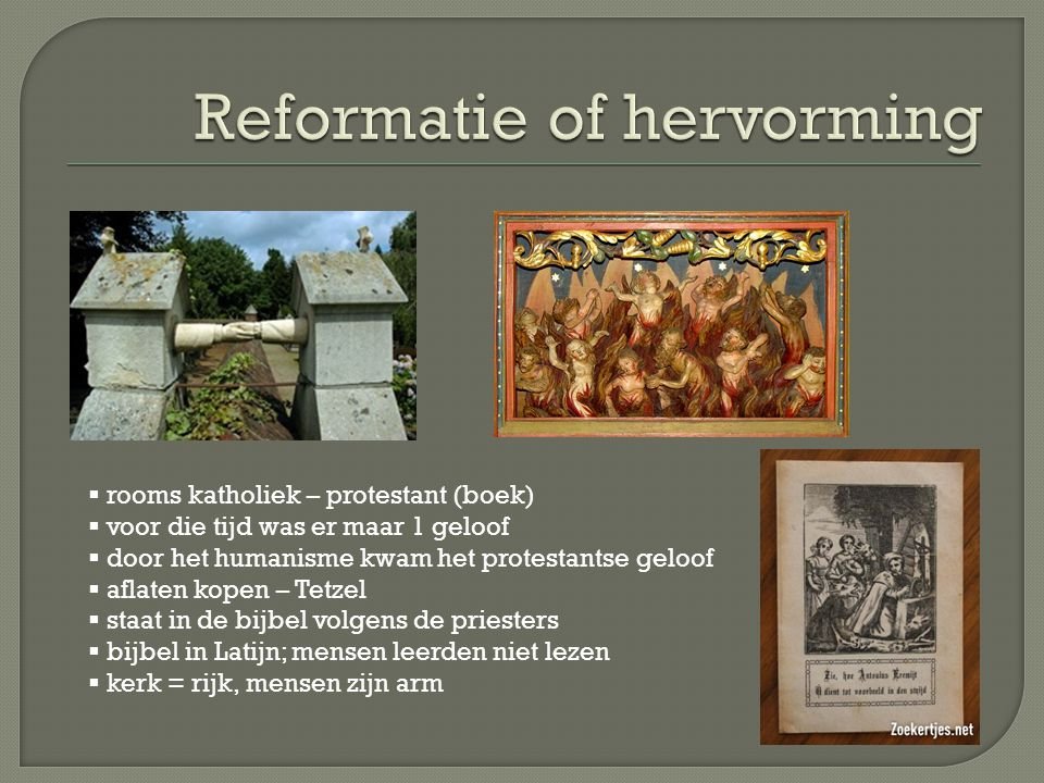 Reformatie of hervorming
