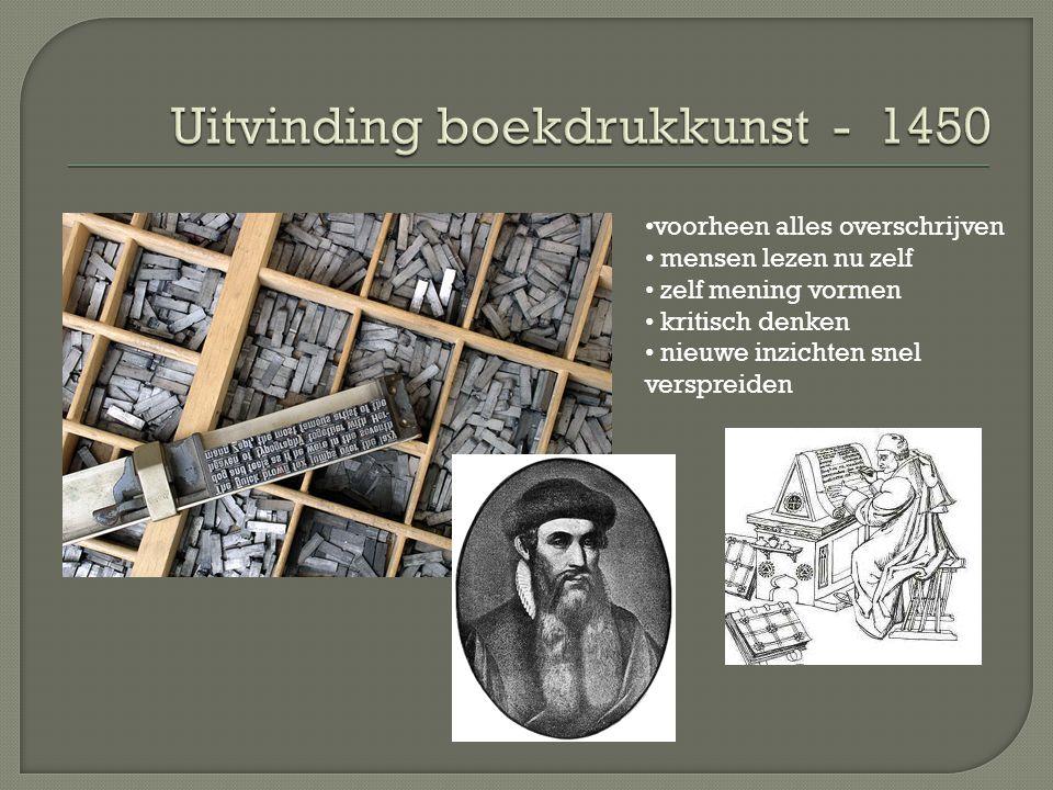 Uitvinding boekdrukkunst - 1450