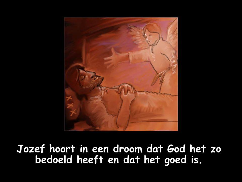 Jozef hoort in een droom dat God het zo bedoeld heeft en dat het goed is.