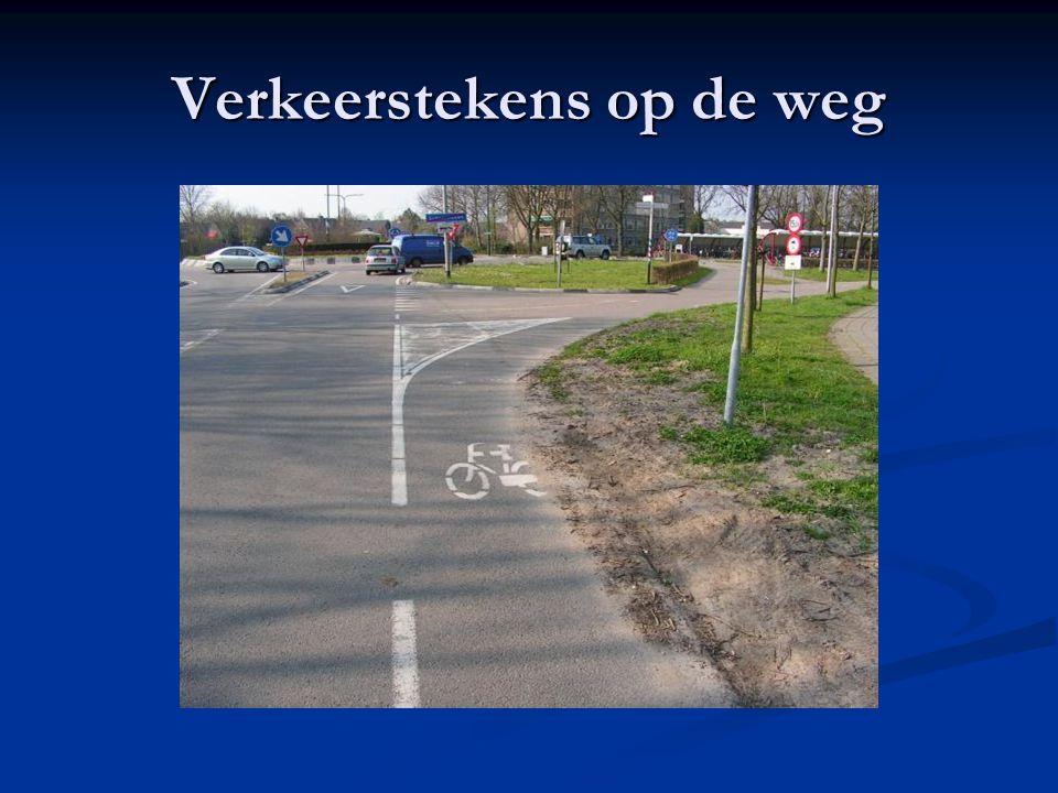 Verkeerstekens op de weg