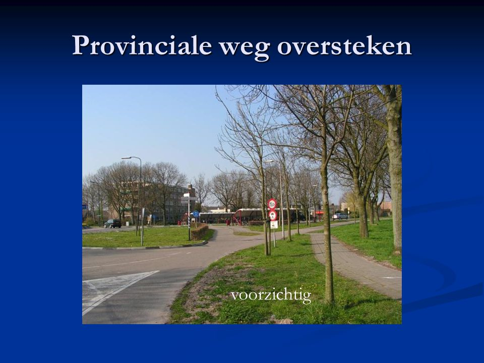 Provinciale weg oversteken