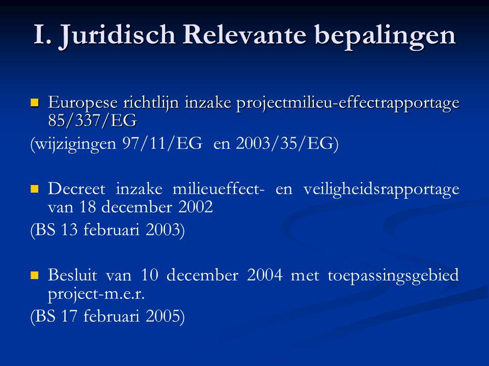 I. Juridisch Relevante bepalingen