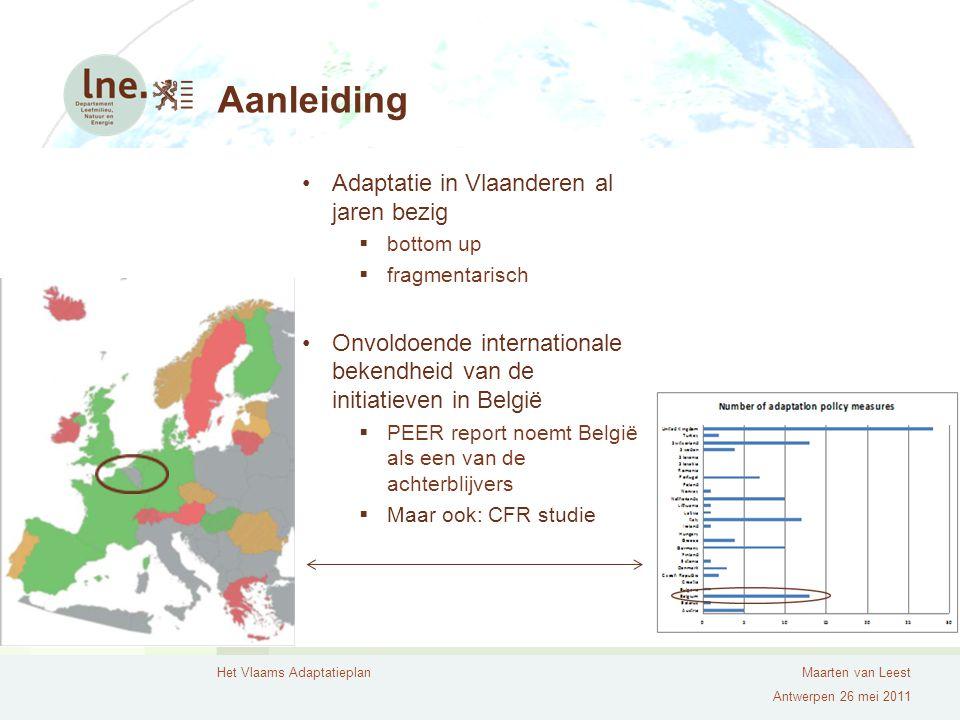 Aanleiding Adaptatie in Vlaanderen al jaren bezig