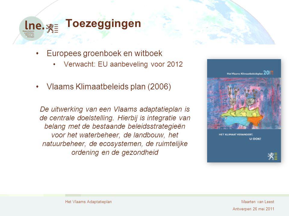 Toezeggingen Europees groenboek en witboek