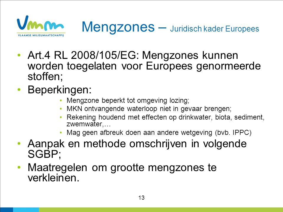 Mengzones – Juridisch kader Europees