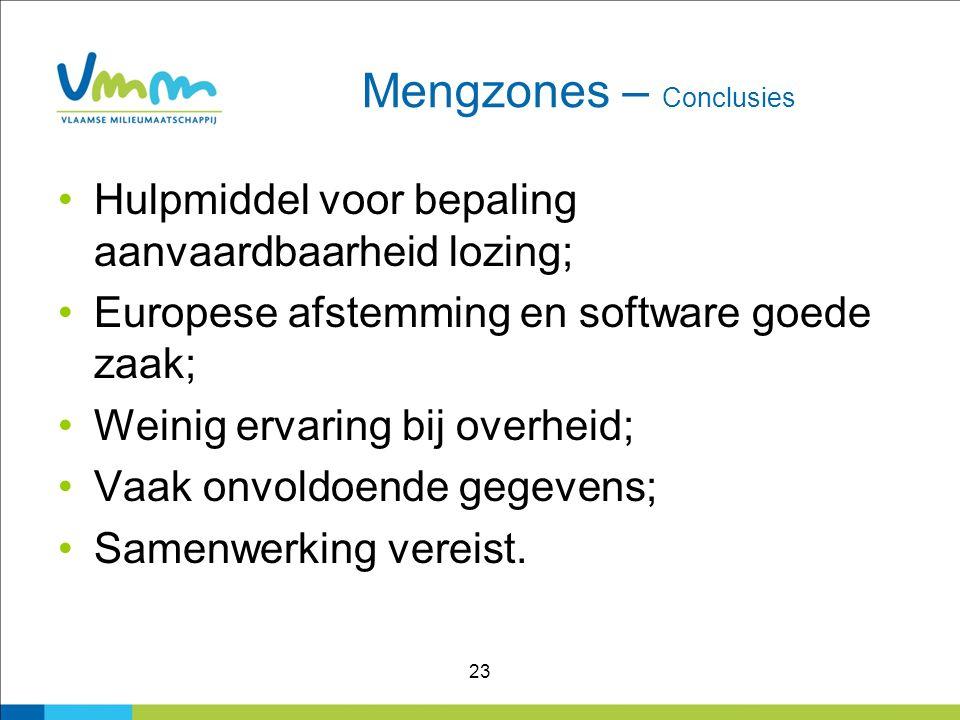 Mengzones – Conclusies