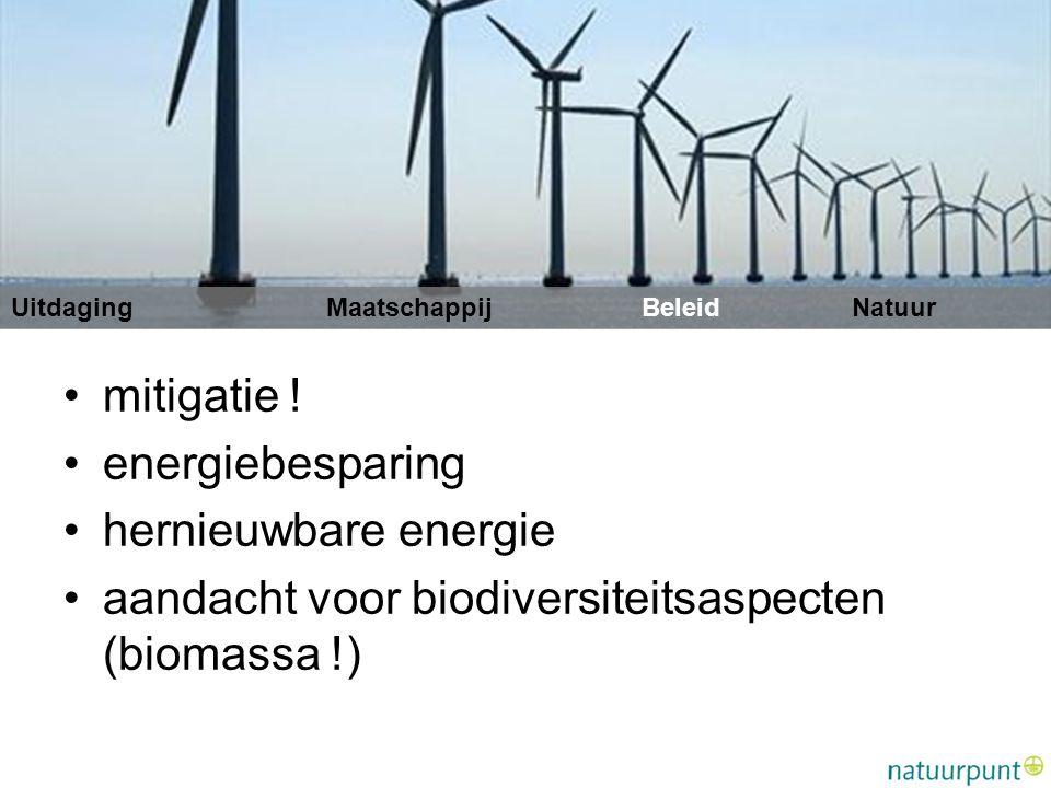 aandacht voor biodiversiteitsaspecten (biomassa !)