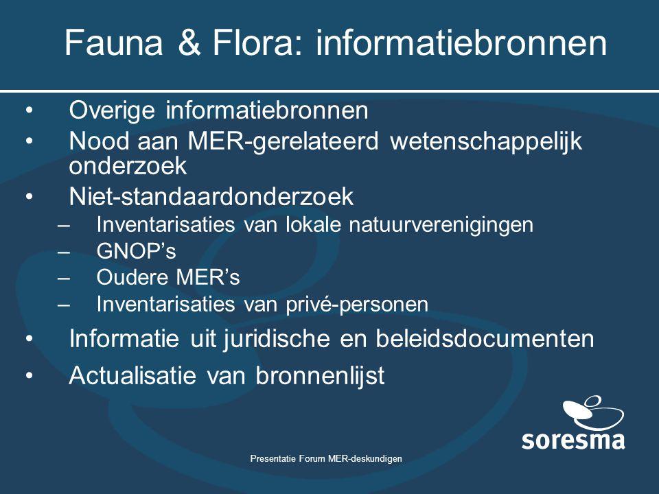 Fauna & Flora: informatiebronnen