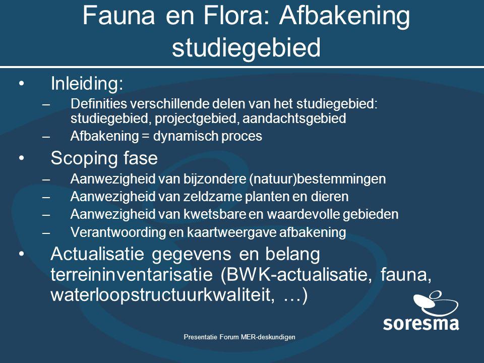 Fauna en Flora: Afbakening studiegebied