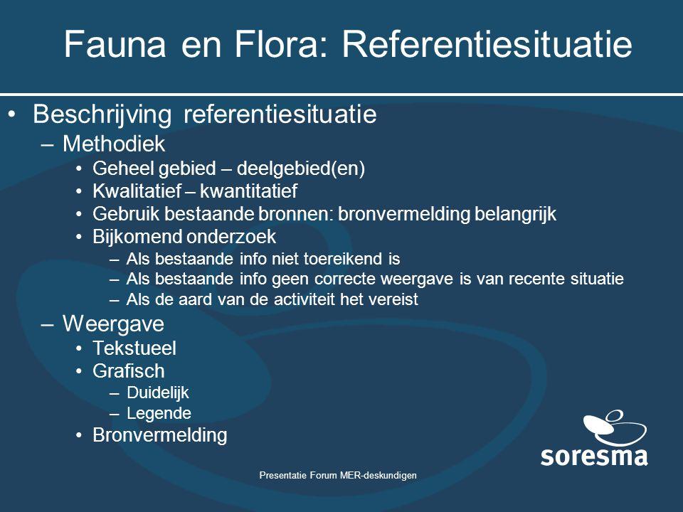 Fauna en Flora: Referentiesituatie