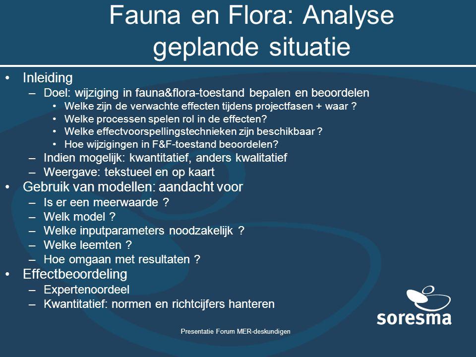 Fauna en Flora: Analyse geplande situatie
