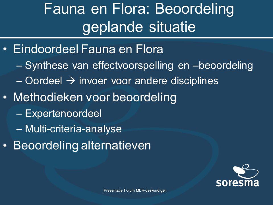 Fauna en Flora: Beoordeling geplande situatie