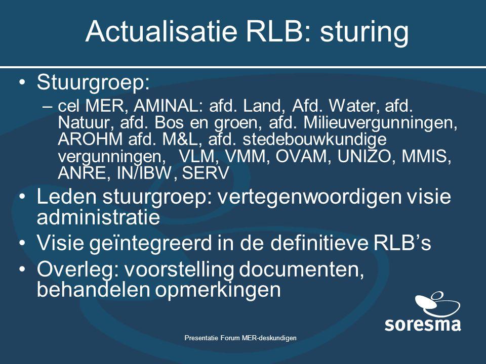 Actualisatie RLB: sturing