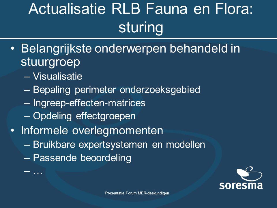 Actualisatie RLB Fauna en Flora: sturing
