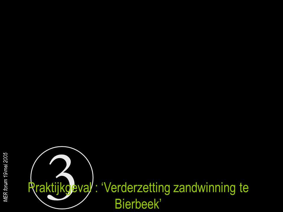 Praktijkgeval : 'Verderzetting zandwinning te Bierbeek'