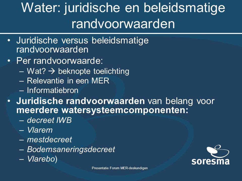 Water: juridische en beleidsmatige randvoorwaarden