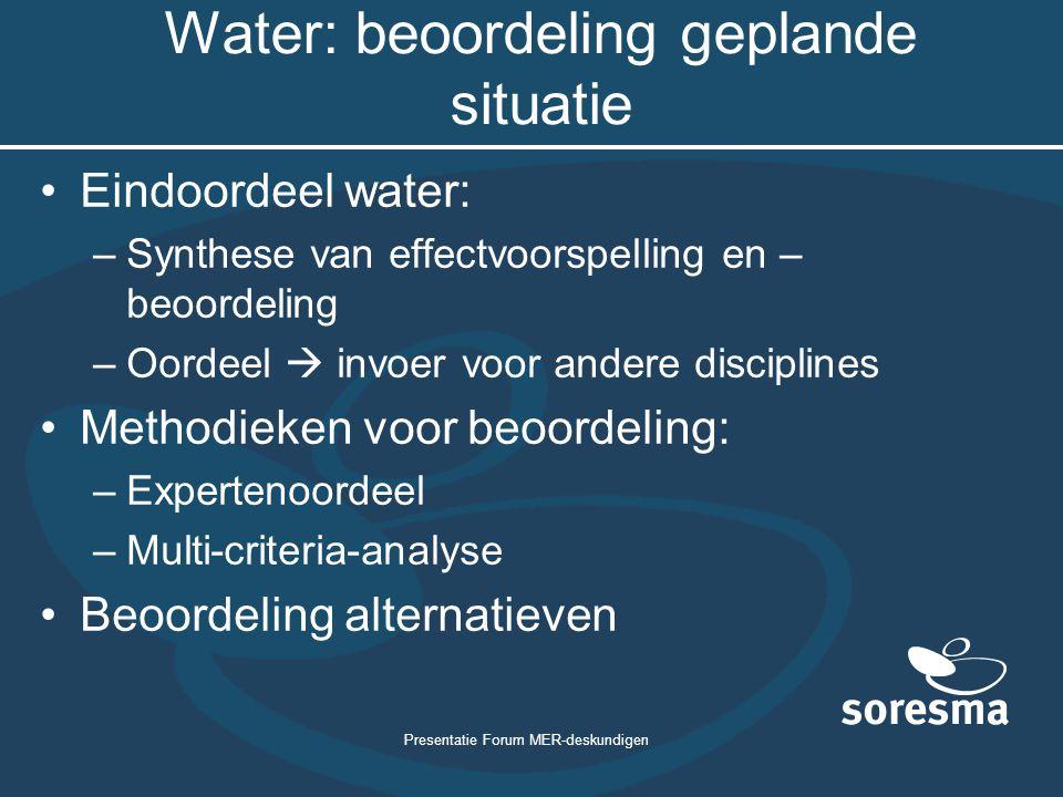 Water: beoordeling geplande situatie
