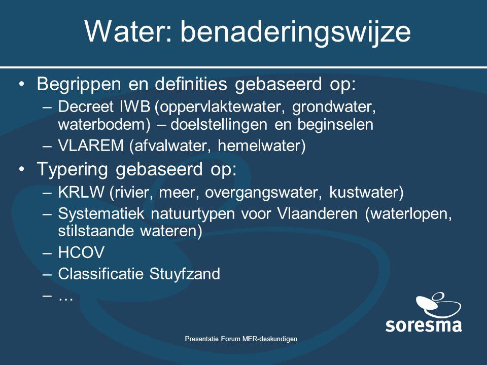 Water: benaderingswijze