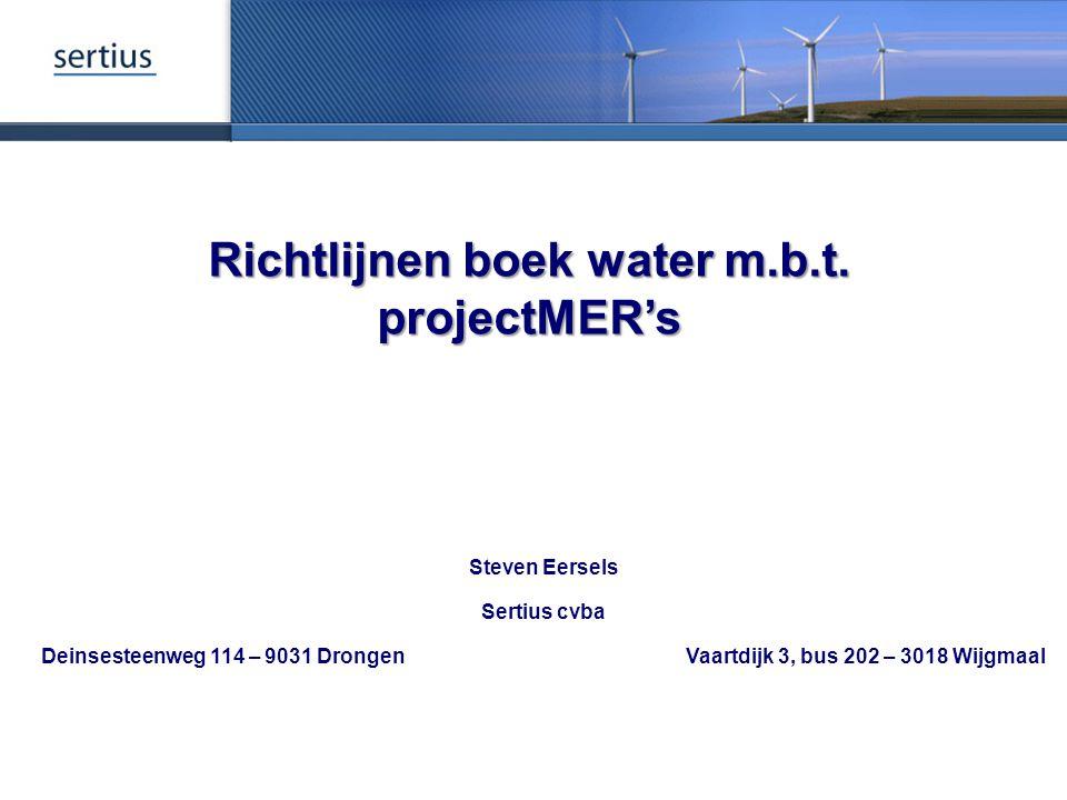 Richtlijnen boek water m.b.t. projectMER's
