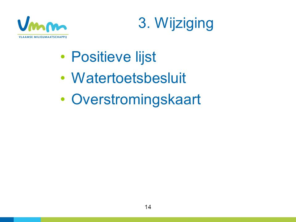3. Wijziging Positieve lijst Watertoetsbesluit Overstromingskaart 14