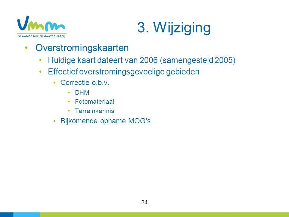 3. Wijziging Overstromingskaarten