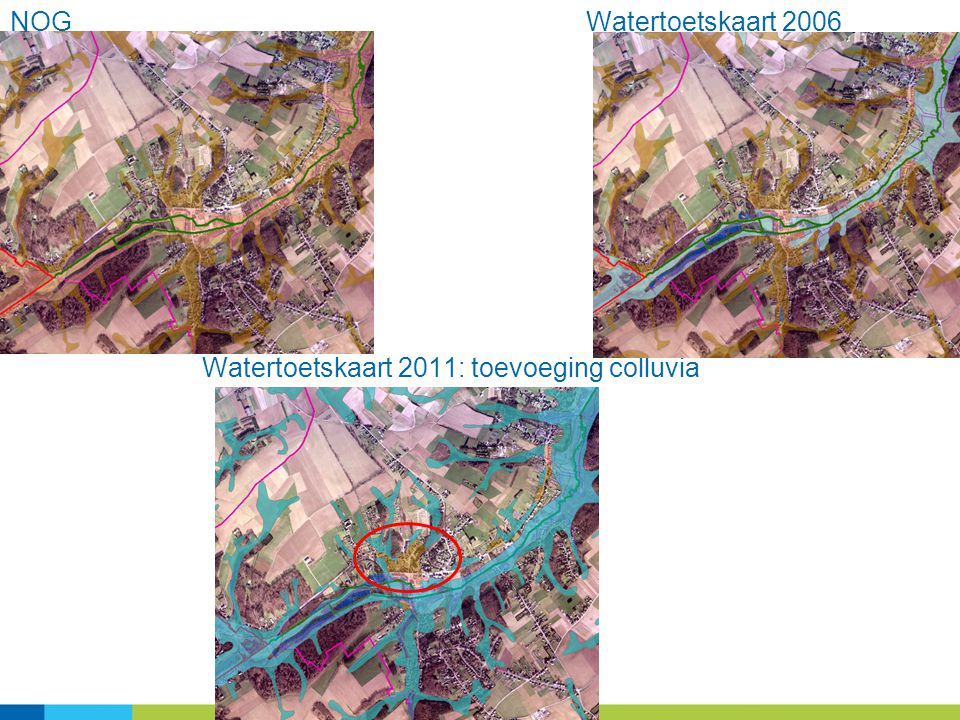 Watertoetskaart 2011: toevoeging colluvia