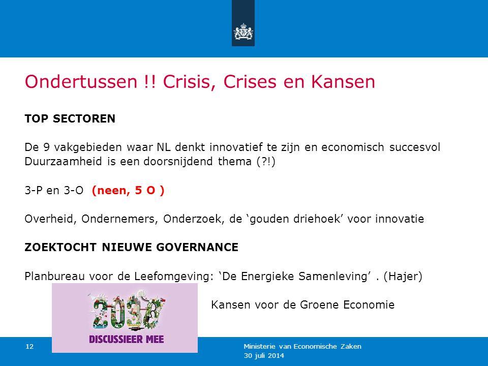 Ondertussen !! Crisis, Crises en Kansen